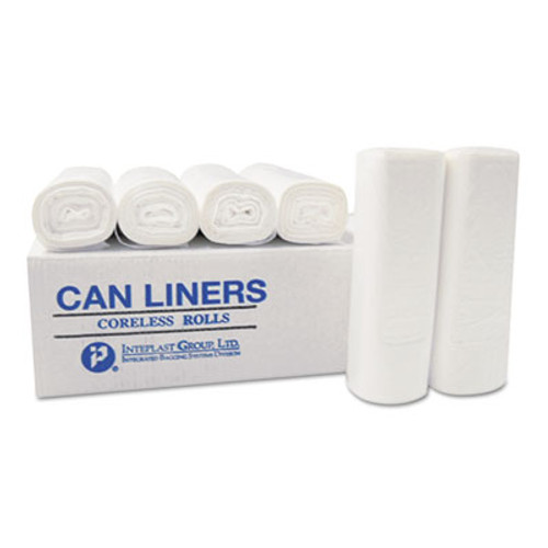 Inteplast Group High-Density Can Liner, 24 x 33, 16-Gallon, 6 Micron, Black, 50/Roll (IBS EC243306K)