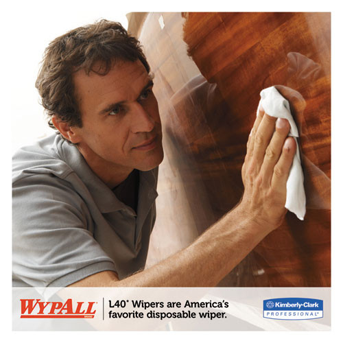 WypAll L40 Towels  Center-Pull  10 x 13 1 5  White  200 Roll  2 Carton (KCC 05796)