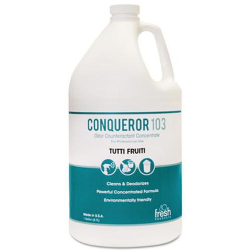 Fresh Products Conqueror 103 Odor Counteractant Concentrate  Tutti-Frutti  1 gal Bottle  4 Carton (FRS 1-WB-TU)
