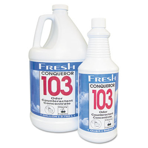 Fresh Products Conqueror 103 Odor Counteractant Concentrate  Cherry  32 oz Bottle  12 Carton (FRS 12-32WB-CH)