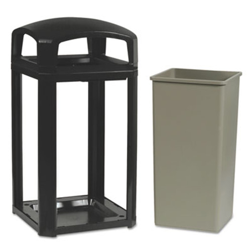Rubbermaid Commercial Landmark Series Classic Dome Top Container  Plastic  50 gal  Sable (RCP 3975 SAB)