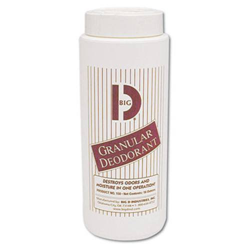 Big D Industries Granular Deodorant  Lemon  16 oz  Shaker Can  12 Carton (BGD 150)