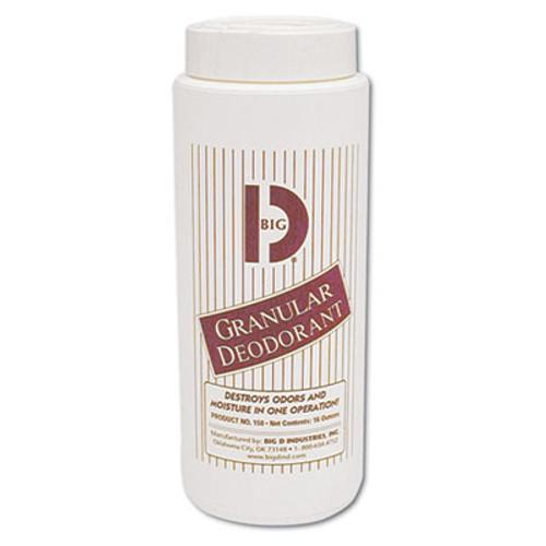 Big D Industries Granular Deodorant  Lemon  16 oz  Shaker Can  12 Carton (BGD 150)