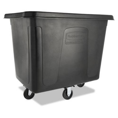 Rubbermaid Commercial Cube Truck  500 lb Capacity  Black (RCP 4616 BLA)