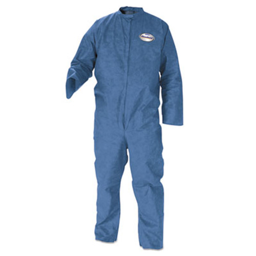KleenGuard* A20 Coveralls, MICROFORCE Barrier SMS Fabric, Denim, Large, 24/Carton (KCC 58504)