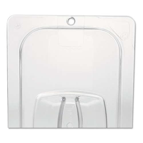 Rubbermaid Commercial Cold Food Pan Covers, 6 3/8w x 6 7/8d, Clear (RCP 108P-23 CLE)