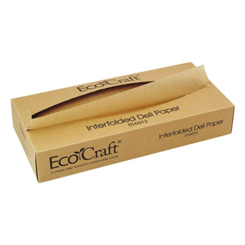 Bagcraft EcoCraft Interfolded Soy Wax Deli Sheets  12 x 10 3 4  500 Box  12 Boxes Carton (BGC 016012)