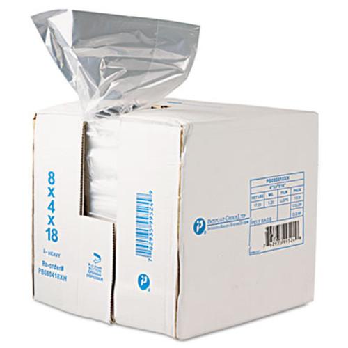 Inteplast Group Get Reddi Food & Poly Bag, 8 x 4 x 18, 8-Quart, 0.68 Mil, Clear, 1000/Carton (IBS PB080418R)
