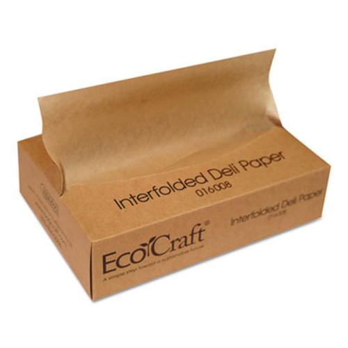 Bagcraft EcoCraft Interfolded Soy Wax Deli Sheets  8 x 10 3 4  500 Box  12 Boxes Carton (BGC 016008)