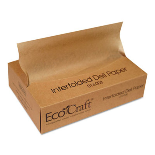 Bagcraft EcoCraft Interfolded Soy Wax Deli Sheets  8 x 10 3 4  500 Box  12 Boxes Carton (BGC 016008)