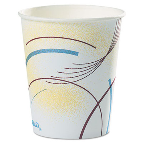 Dart Paper Water Cups  5 oz   Cold  Meridian Design  Multicolored  100 Sleeve  25 Sleeves Carton (SCC 52MD)