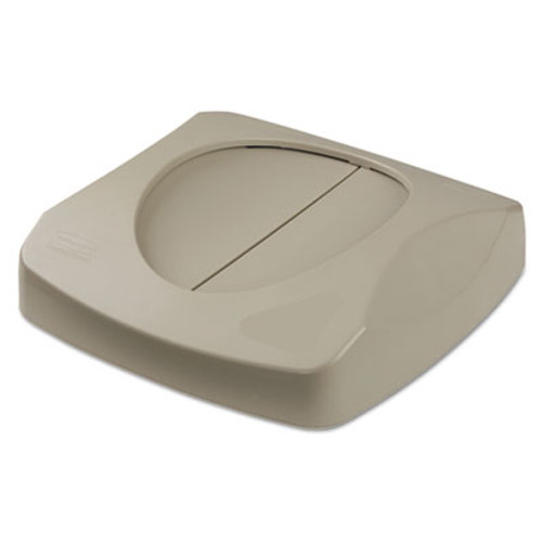 Rubbermaid Commercial Untouchable Square Swing Top Lid  16w x 16d x 4h  Gray (RCP 2689-88 GRA)