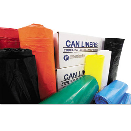 Inteplast Group High-Density Commercial Can Liners Value Pack  60 gal  14 microns  36  x 58   Clear  250 Carton (IBS VALH3660N16)