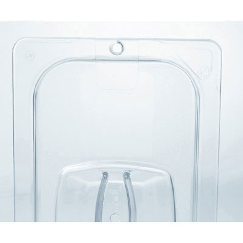 Rubbermaid Commercial Cold Food Pan Covers, 10 3/8w x 12 4/5d, Clear (RCP 128P-23 CLE)