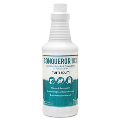 Fresh Products Conqueror 103 Odor Counteractant Concentrate  Tutti-Frutti  32 oz Bottle  12 Carton (FRS 12-32WB-TU)