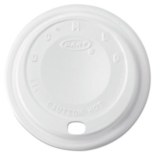Dart Cappuccino Dome Sipper Lids  8-10oz Cups  White  1000 Carton (DCC 8EL)