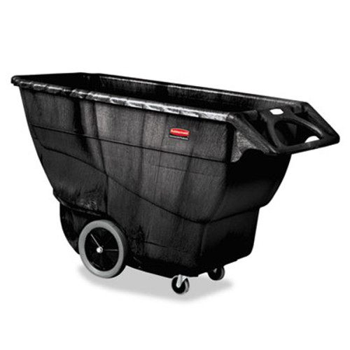 Rubbermaid Commercial Structural Foam Tilt Truck, Rectangular, 2100 lb. Cap., Black (RCP 9T16 BLA)