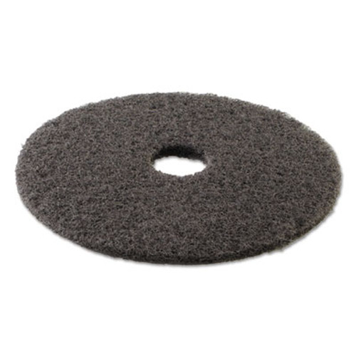 Boardwalk High Performance Stripping Floor Pads  17  Diameter  Grayish Black  5 Carton (PAD 4017 HIP)
