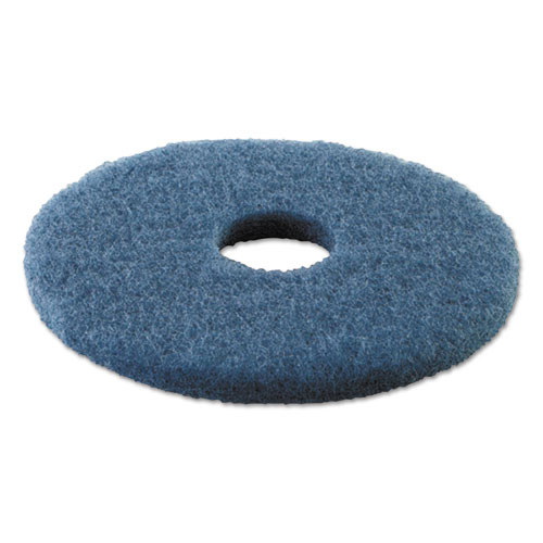 Boardwalk Scrubbing Floor Pads  14  Diameter  Blue  5 Carton (PAD 4014 BLU)