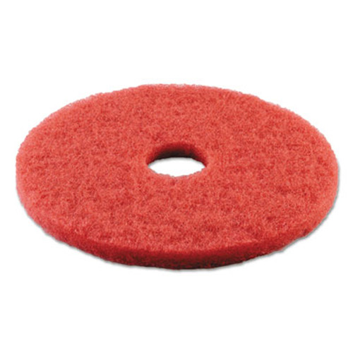 Boardwalk Buffing Floor Pads  15  Diameter  Red  5 Carton (PAD 4015 RED)