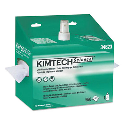Kimtech* Lens Cleaning Station, POP-UP Box, White, 4/Case (KCC 34623)