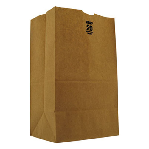 General #20 Squat Paper Grocery, 50lb Kraft, Heavy-Duty 8 1/4 x5 5/16 x13 3/8, 500 bags (BAG GH20S)