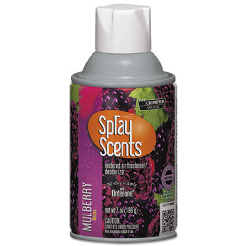 Chase Products SPRAYScents Metered Air Freshener Refill  Mulberry  7oz Aerosol  12 Carton (CHA 5169)
