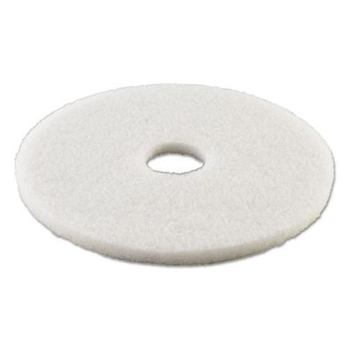 Boardwalk Polishing Floor Pads  21  Diameter  White  5 Carton (PAD 4021 WHI)