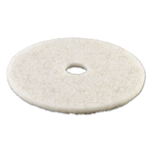Boardwalk Natural White Burnishing Floor Pads  21  Diameter  5 Carton (PAD 4021 NAT)