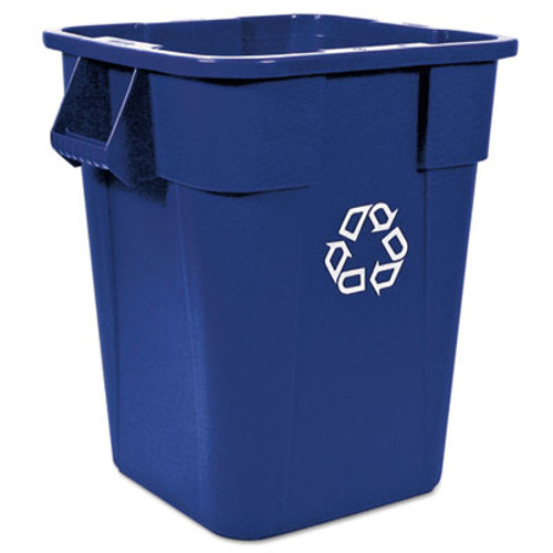 Rubbermaid Commercial Brute Recycling Container, Square, Polyethylene, 40 gal, Blue (RCP 3536-73 BLU)