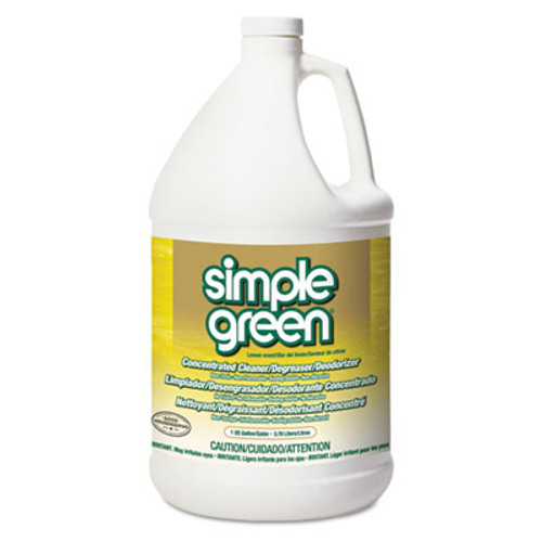 Simple Green Industrial Cleaner and Degreaser  Concentrated  Lemon  1 gal Bottle  6 Carton (SMP 14010)