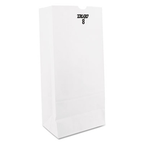General Grocery Paper Bags  35 lbs Capacity   8  6 13 w x 4 17 d x 12 44 h  White  500 Bags (BAG GW8-500)