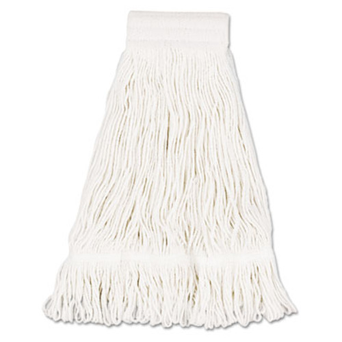 Boardwalk Mop Head, Pro Loop Web/Tailband, Premium Saddleback Head, Ctn, 24-oz., WH, 12/CT (UNS 524C)