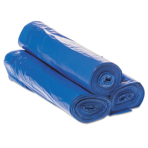 """Inteplast Group Draw-Tuff Institutional Draw-Tape Can Liners, 30 gal, 1 mil, 30.5"""" x 40"""", Blue, 200/Carton (IBS DTH3040B)"""