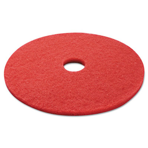 Boardwalk Buffing Floor Pads  21  Diameter  Red  5 Carton (PAD 4021 RED)