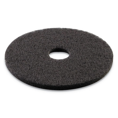 Boardwalk Stripping Floor Pads  16  Diameter  Black  5 Carton (PAD 4016 BLA)