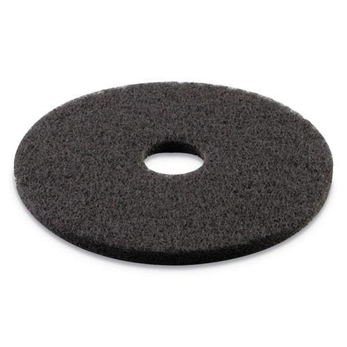 Boardwalk Stripping Floor Pads  16  Diameter  Black  5 Carton (PAD 4016 BLA)