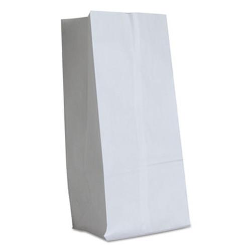 General #16 Paper Grocery Bag, 40lb White, Standard 7 3/4 x 4 13/16 x 16, 500 bags (BAG GW16-500)