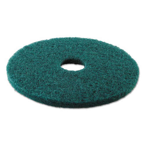Boardwalk Standard 17-Inch Diameter Heavy-Duty Scrubbing Floor Pads, Green (PAD 4017 GRE)