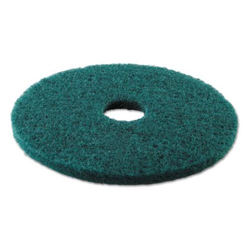 Boardwalk Heavy-Duty Scrubbing Floor Pads  17  Diameter  Green  5 Carton (PAD 4017 GRE)