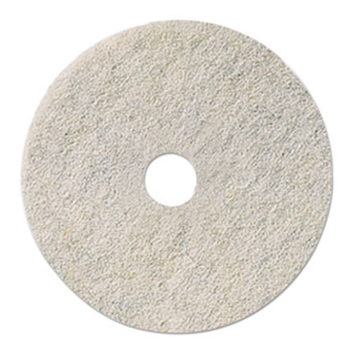 Boardwalk Natural White Burnishing Floor Pads  17  Diameter  5 Carton (PAD 4017 NAT)