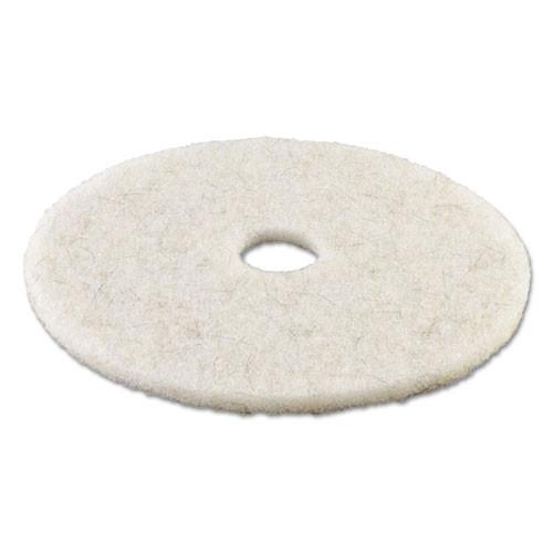 Boardwalk Natural White Burnishing Floor Pads  17  Diameter  5 Carton (PAD 4017 NAT)