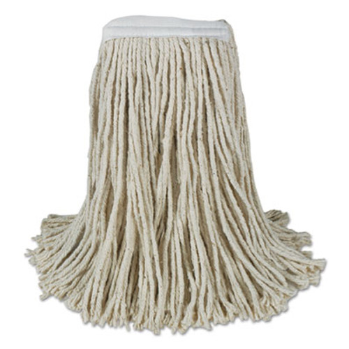 Boardwalk Mop Head, Cotton, Cut-End, White, 4-Ply, 32oz, 12/Carton (BWK CM20032)
