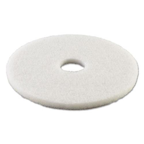 Boardwalk Standard 13-Inch Diameter Polishing Floor Pads, White (PAD 4013 WHI)