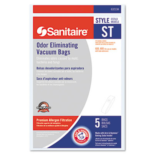 Sanitaire Style ST Disposable Vacuum Bags for SC600   SC800 Series  5 Pack (EUR63213B10)