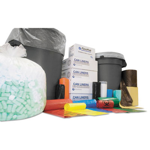 Inteplast Group High-Density Interleaved Commercial Can Liners  60 gal  12 microns  38  x 60   Black  200 Carton (IBS S386012K)