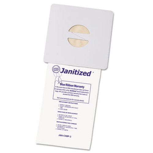 Janitized Vacuum Filter Bags Designed to Fit Nobles Portapac Tennant  100 CT (APCJANCXBP2)