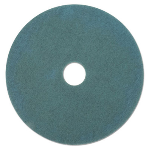 Boardwalk Aqua Burnishing Floor Pads  19  Diameter  5 Carton (PAD 4019 AQU)
