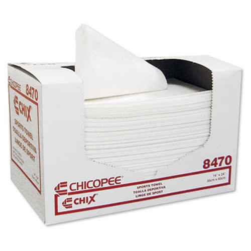 Chix Sports Towels, 14 x 24, White, 100 Towels/Pack, 6 Packs/Carton (CHI 8470)