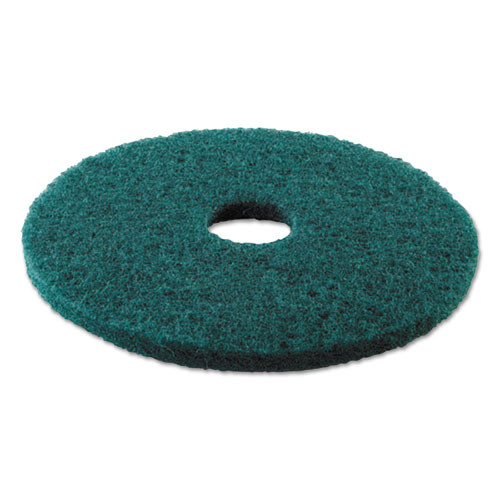 Boardwalk Heavy-Duty Scrubbing Floor Pads  16  Diameter  Green  5 Carton (PAD 4016 GRE)